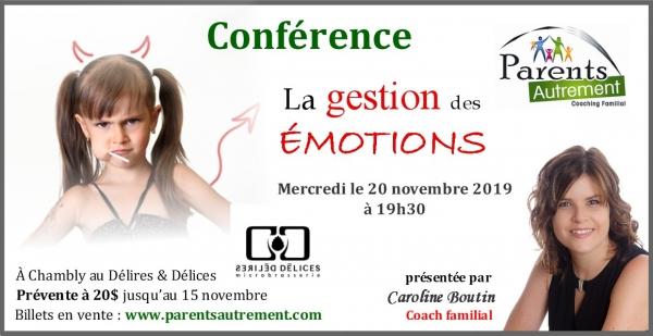Conférence – Caroline Boutin